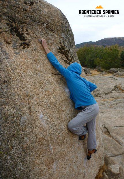 Ein Hauch von Nichts - Boulder in Zarzalejo