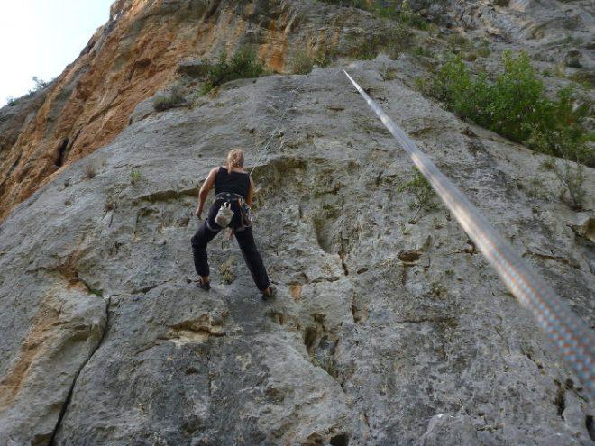 Beim Klettern auf dem Peloponnes