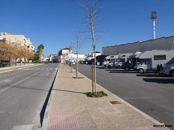 Der Stellplatz in Antequera