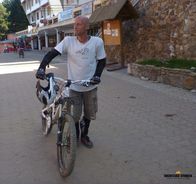 Steve vorm Bikepark