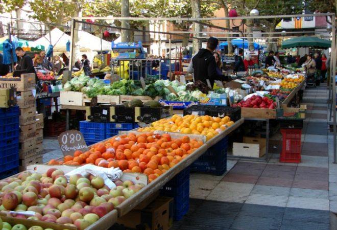 Ein Markt in Katalonien