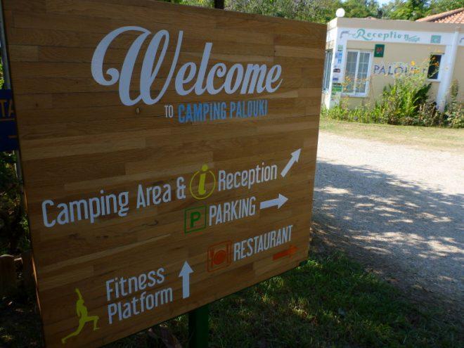 Eingangsbereich Campingplatz