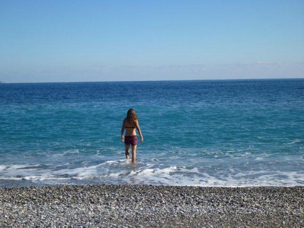 Bei 10 Grad Außentemperatur ins Meer gehen, dabei fühle ich mich lebendig