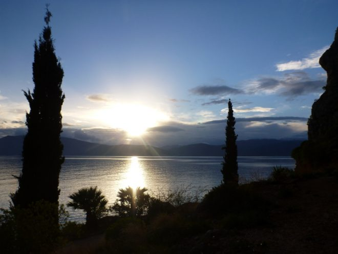 Sonnenuntergang in Nafplio