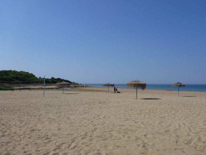 Erstes Mal Strandfeeling am Camping Palouki