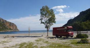 Bucht Griechenland Wohnmobil